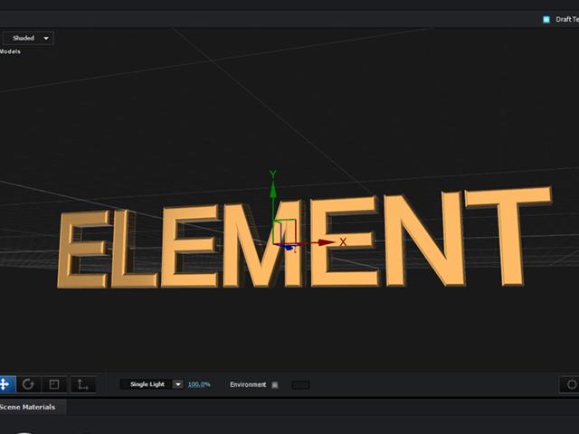 エレメント3D 環境マップ