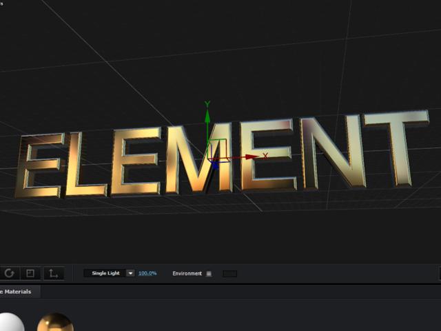 エレメント3D 環境マップ 明るさ